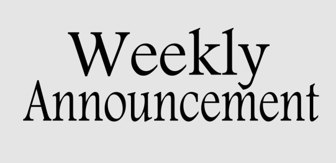 Church Weekly Announcements